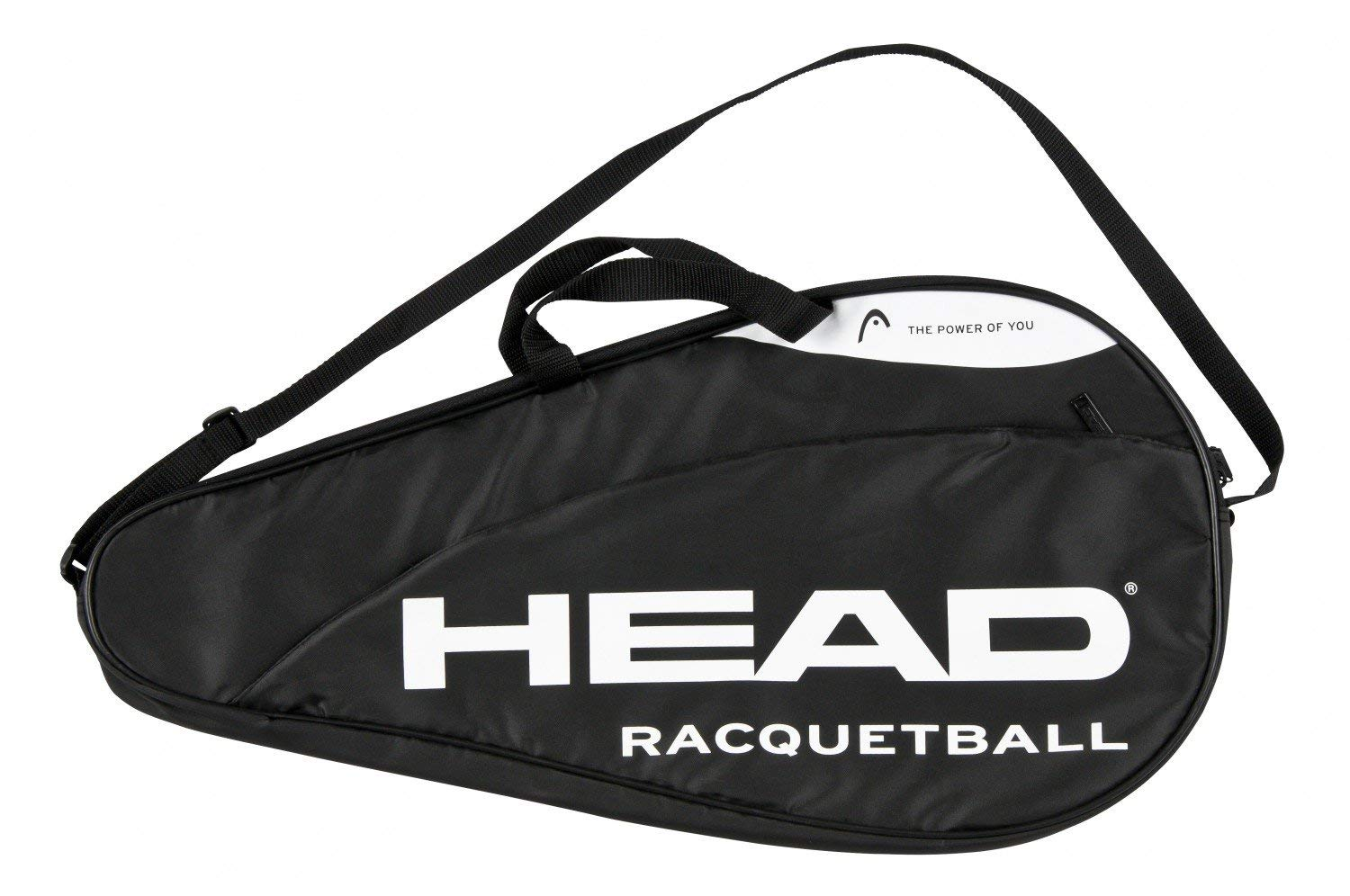 HEAD Racquetball Deluxe Coverbag Racket Carrying Bag w//Accessory Compartment /& Adjustable Shoulder Strap