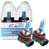 TOAUTO 2 X H8 35W 12V Car Headlight Lamp Halogen Light Super Bright Fog Xenon Bulb