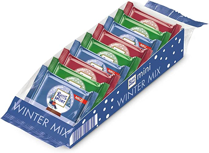 Ritter Sport Mini Winter Mix 9e Pieces 150g Pack Of 2 Amazon Co Uk Grocery