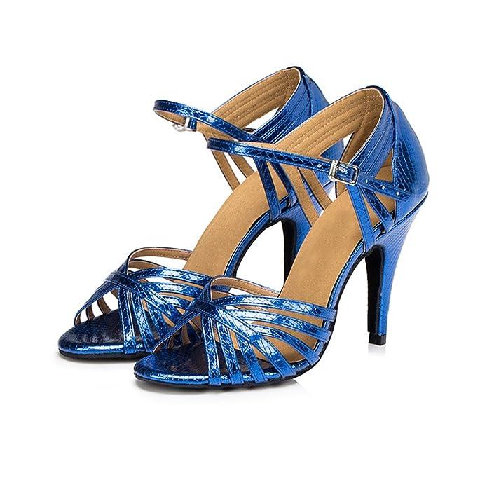 misu - Zapatillas de danza para mujer Azul azul, color Dorado, talla 42
