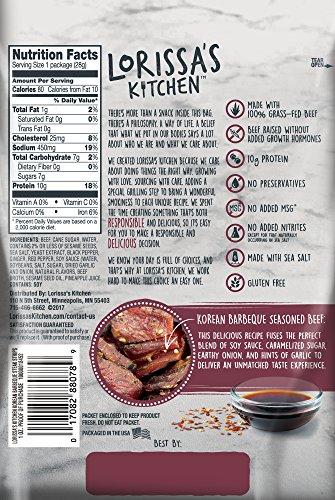 Lorissa's Kitchen Premium Steak Strips, Korean Barbeque, 10 Count