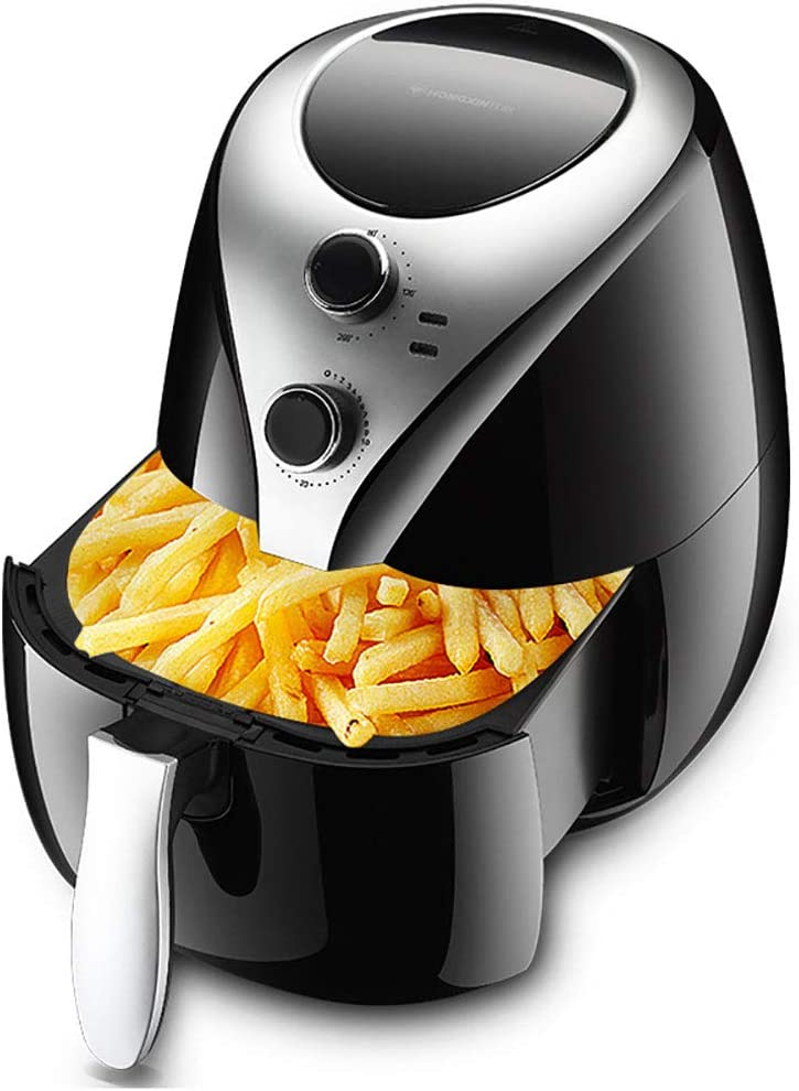 Eif Feifei Air Fryer,5 Quart, 1200W Fast Large Hot Air Fryers Oilless Electric Air Fryer + Oven Cooker with Temperature Control, Non Stick Fry Basket, Recipe Guide + Auto Shut Off Feature