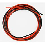 BNTECHGO 16 Gauge Silicone Wire 10 Feet [5 ft Black And 5 ft Red] 16 AWG Silicone Wire - Soft and Flexible Silicone Wire- 252 Strands of copper wire