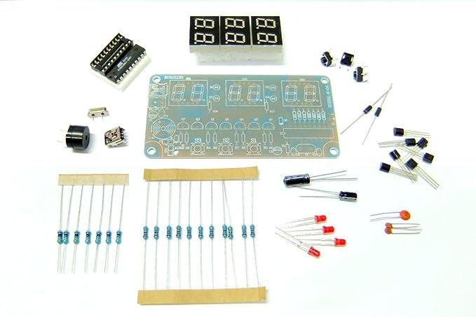 1 Set 6 Bits Digit Educational Digital Clock +Alarm Clock Setting