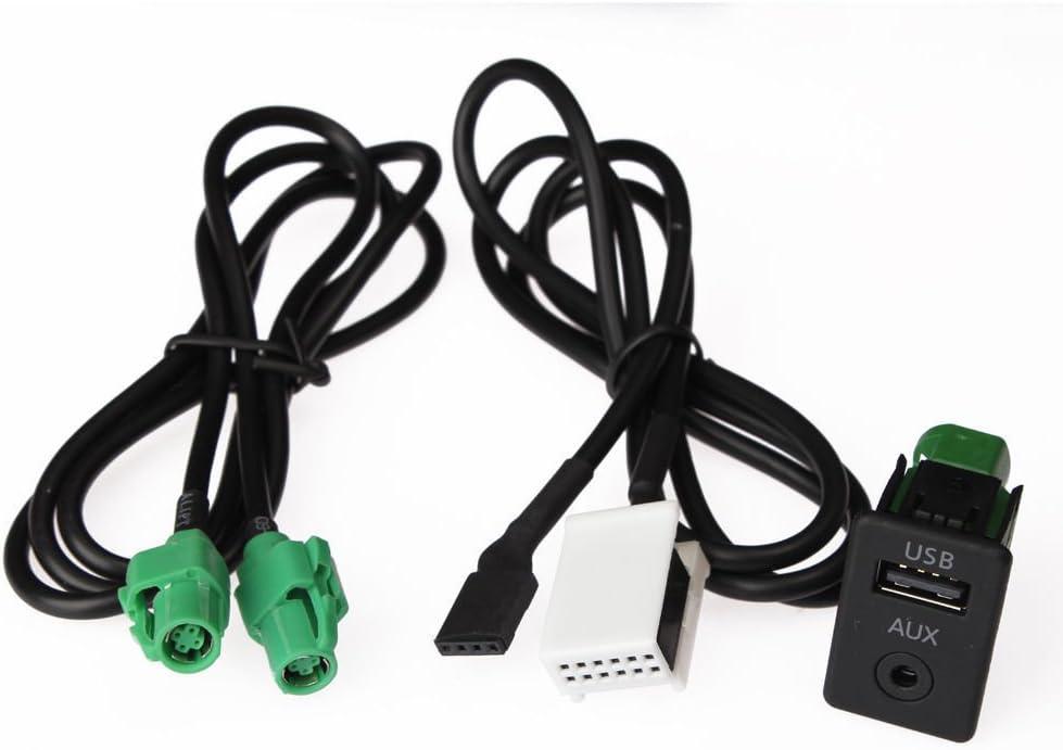Usb Aux Einbau Buchse 2 In 1 Adapter Mp3 Passend Für Elektronik