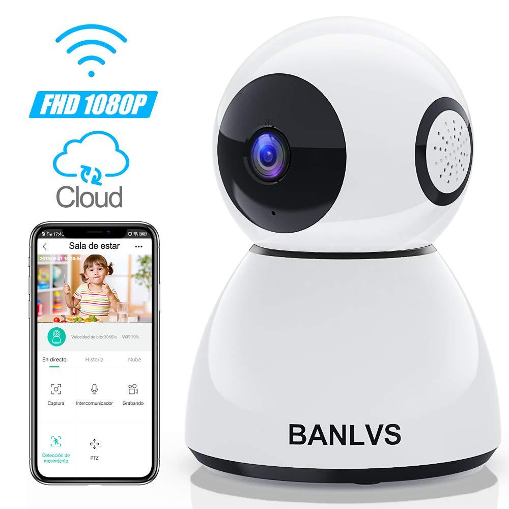 BANLVS 1080P Cámara IP WiFi, Cámara de Vigilancia WiFi Interior FHD con Visión Nocturna, Detección de Movimiento, Audio de 2 Vías, Vigilancia de Seguridad para Hogar/Bebé/Mascotas product image