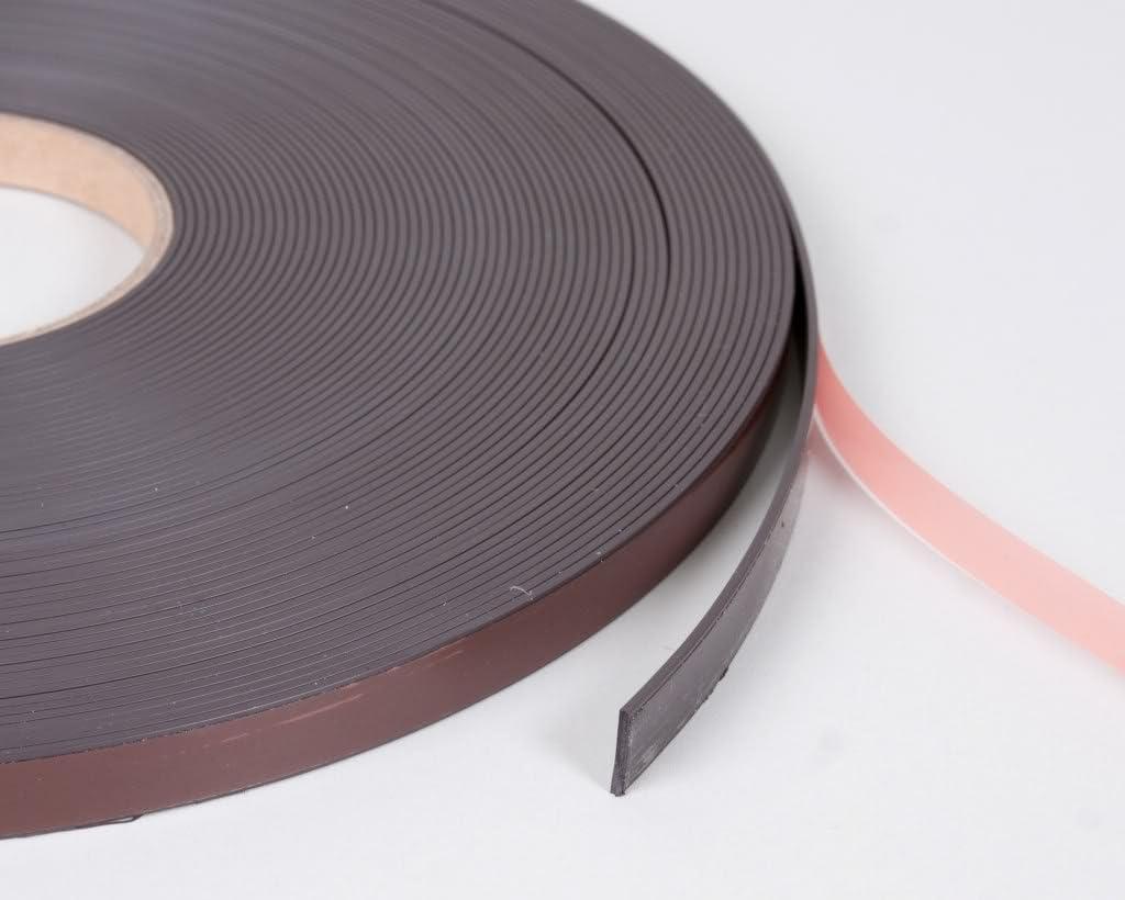 12 mm x 1 m Selbstklebendes Magnetband