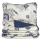 Brandream Queen Size Blue Ocean Comforter Set Nautical Bedding Set