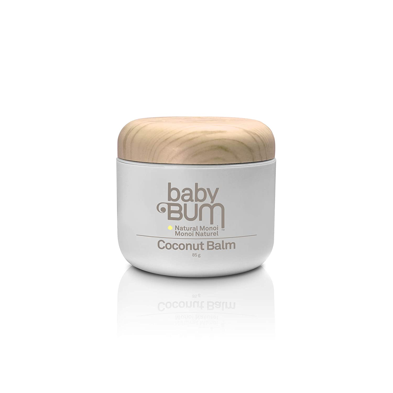 Sun Bum Baby Bum Natural Monoi Coconut Balm, 88 mL, 1 Count, Aloe, Shea Butter, Cocoa Butter, Hypoallergenic, Natural, Preservative Free, Vegan, Dermatologist Tested, Pediatrician Tested