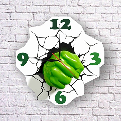 [Hulk 11.8'' Original Handmade Wall Clock - Get unique décor for home or office – Best gift ideas for kids, friends, parents and your soul] (Incredible Hulk Costume Ideas)