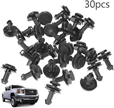 30 Pack Air Deflector Clip Retainers For GM Front Air Dam Valance 15733971 NEW