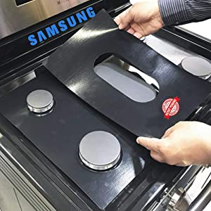 Samsung Stove Protector Liners - Stove Top Protector for Samsung Gas ranges - Customized - Easy Cleaning Stove Liners NX58F5500SS