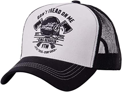 Dont Tread on Me - Gorra para Hombre, Color Negro y Blanco: Amazon ...