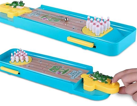 Mini Juego de Bolos, Mini Juego de Escritorio de Bolos Mini Mesa de Juego de Bolos Bola clásica de Escritorio para niños y Adultos (Color, tamaño : 34 * 10 * 2.5cm): Amazon.es: Hogar