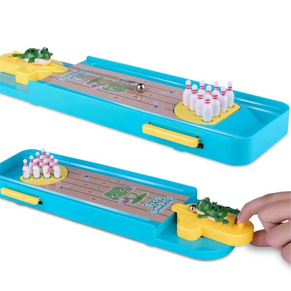 KMCMYBANG Bowling Toy Mini Bowling Game, Mini Desktop Bowling Game Mini Tabletop Bowling Toy Classic Desk Kids Bowling Toys (Color, Size : 34102.5cm) by KMCMYBANG