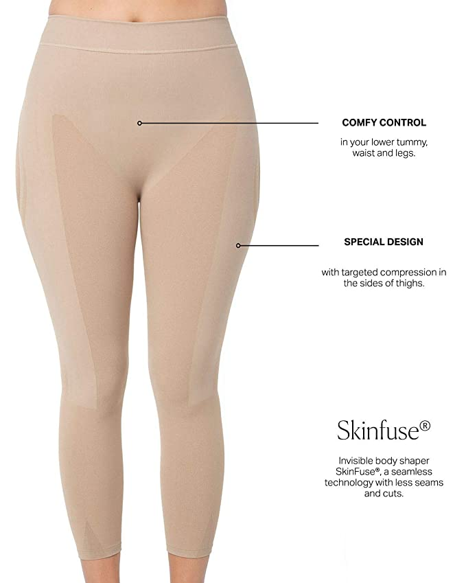 1c89e5f51 Amazon.com  Leonisa Max Power Extra-High-Waisted Firm Compression Shapewear  Leggings Activewear Pants for Women  Clothing