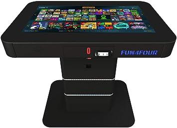 PARS EcoTech, Mesa de Juegos FUN4FOUR Gametable, con Pantalla multitáctil, mas de 60 Juegos, y con Detector de Dinero (Billetes y Monedas): Amazon.es: Juguetes y juegos