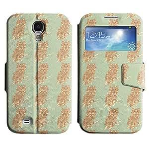 Be-Star Diseño Impreso Colorido Slim Casa Carcasa Funda Case PU Cuero - Stand Function para Samsung Galaxy S4 IV / i9500 / i9505 / i9505G / SGH-i337 ( Serious Owl )