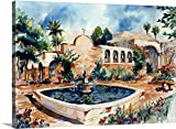 Gallery-Wrapped Canvas entitled Mission San Juan Capistrano by Bill Drysdale 60''x44''