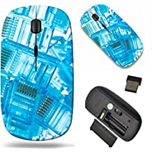 MSD Wireless Mouse Travel 2.4G Wireless Mice with USB Receiver, Noiseless and Silent Click with 1000 DPI for notebook, pc, laptop, computer, mac book design 23949423 ethernet rj45 blue lan plugs close