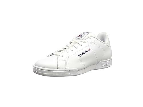 Reebok NPC II - Zapatillas de Cuero Para Mujer, Blanco (1354), 42.5 amazon-shoes el-blanco Cuero
