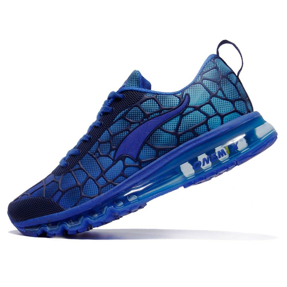 Onemix Hombre Mujer Air Respirable Atlético Unisex Adulto Deportes Zapatillas de Running 46 EU Luna Azul