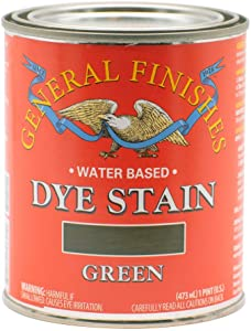 General Finishes Water Based Dye, 1 Pint, Green