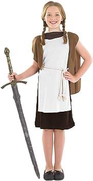 Fun Shack Marrón Chica Vikinga Disfraz para Niñas - XL: Amazon ...