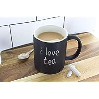 Personalizado taza de café de cerámica de pizarrón–start cada día con un nuevo mensaje (gis incluida)
