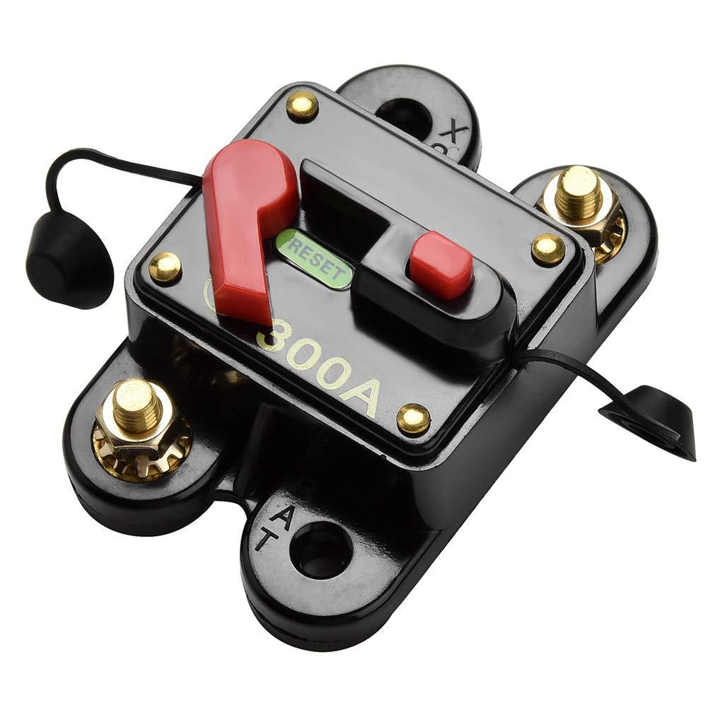 2x 20A Manual Reset Circuit Breaker Switch DC 12V//24V Car Boat Fuse Holder
