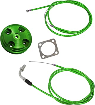 Cylinder Head Cover,Throttle Clutch Cable Line Hose Fits 80cc Motorized Bicycle