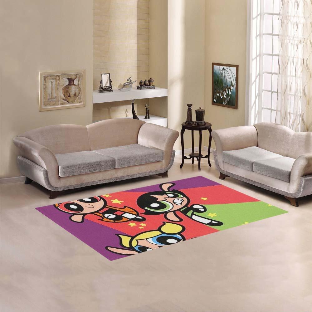 JC-Dress Area Rug Cover The Powerpuff Girls Modern Carpet Cover 2'7''x1'8''