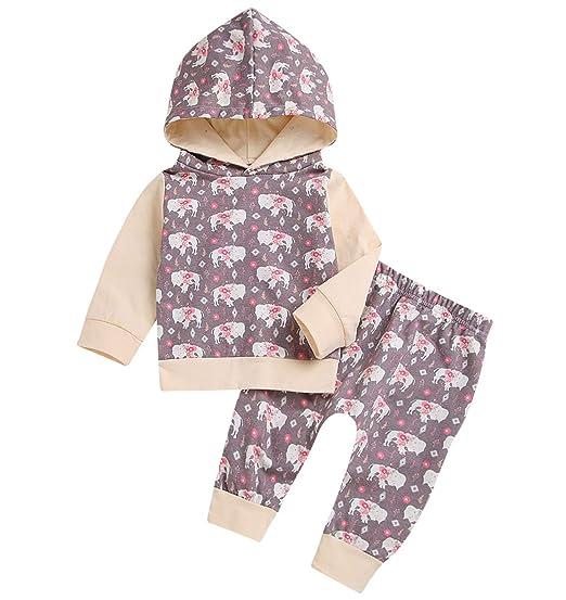 137b165e4 Amazon.com  Newborn Baby Boys Girls Christmas Long Sleeve Hoodie ...