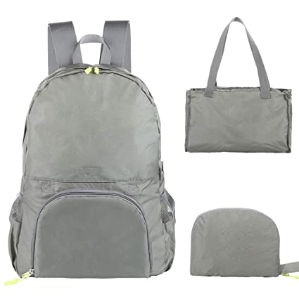 ff1be37dcbaf Amazon.com: HAOHAOWU Backpack Outdoor Skin Bag Folding Backpack Male ...
