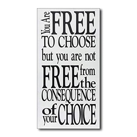 Mr.sign You Are Free to Choose Cartel de Pared Madera Placa ...