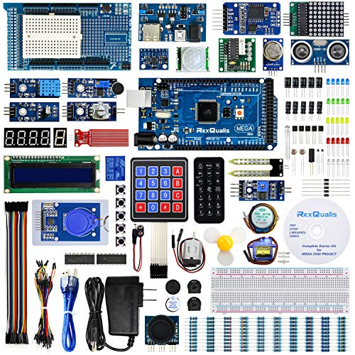 REXQualis Arduino Mega 2560 Kit The Most Complete Starter Kit w/Detailed Tutorial for Arduino Mega2560 Robot Kit]()
