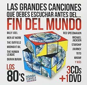 Las Grandes Canciones Que Debes Escuchar Antes Del Fin Del Mundo Los 80's (3cd's + DVD) Varios Artista