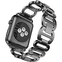 Blueseao Bracelet for Apple Watch, Women/Men Handmade Genuine Stainless Steel Bracelet Smart Watch Band Strap for iWatch Series 3 2 1 Apple Watch 38MM 42 MM with Tool US Stock
