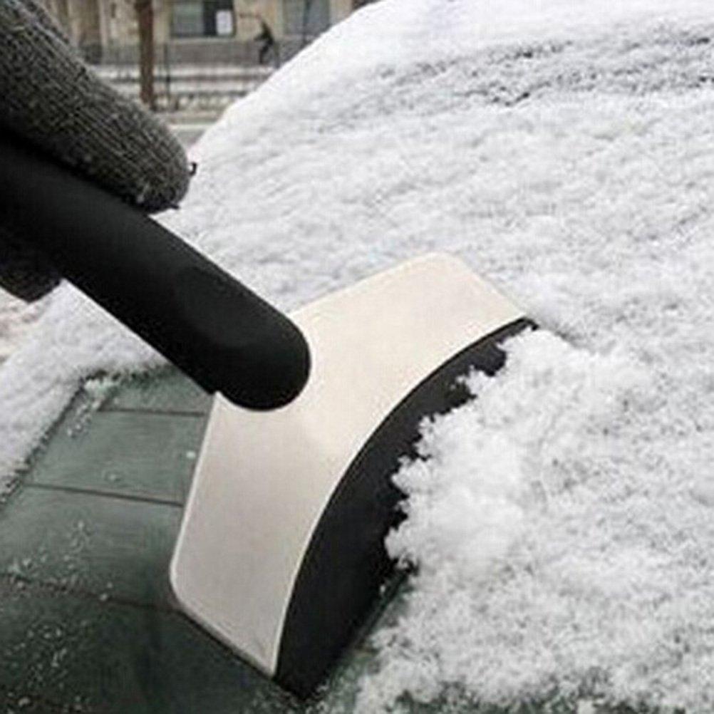 noir LEORX Grattoir /à neige raclette pour enlever le givre pour voiture