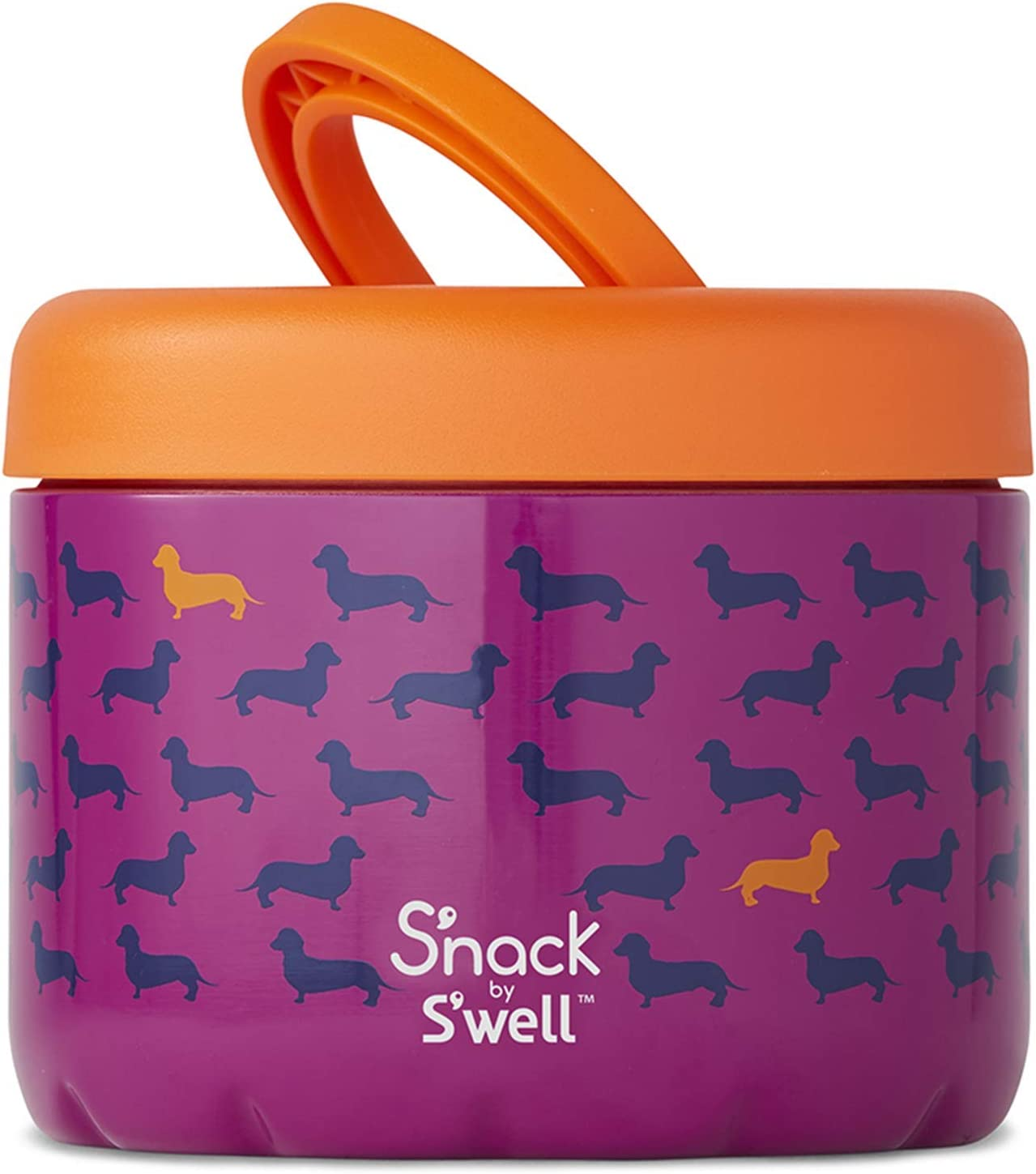 S'nack by S'well Stainless Steel Food Container - 24 Oz – Top Dog - Double-Layered Insulated Bowls Keep Food Cold and Hot - BPA-Free Snack Box