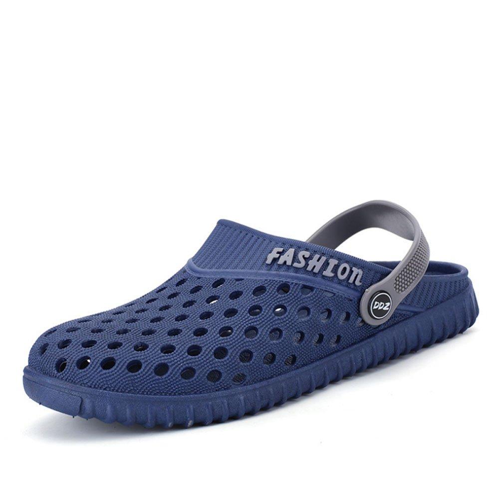HAOYUXIANG Ocio al Aire Libre Zapatos de Playa Antideslizantes Zapatillas Cool Baotou Sandalias de los Hombres Nuevo Estilo de Verano Zapatos de hoyo (Color : Azul, Tamaño : 44) 44|Azul