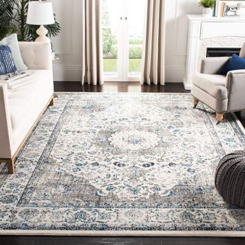 Safavieh Evoke Collection EVK220D Vintage Oriental Grey and Ivory Area Rug (9' x 12') ()