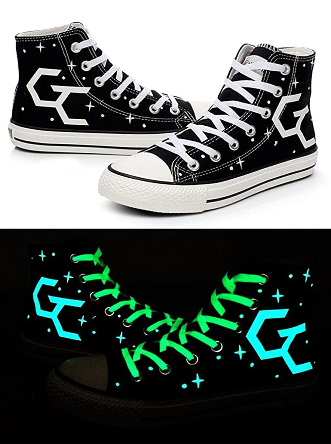 GC Guilty Crown Cosplay Shoes Canvas Shoes Sneakers Luminous