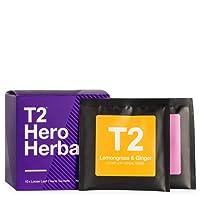 T2 Tea Sips Hero Herbals Assorted Tea Sampler Gift Box, Pack of 10 Loose Leaf Herbal Tea Sachets