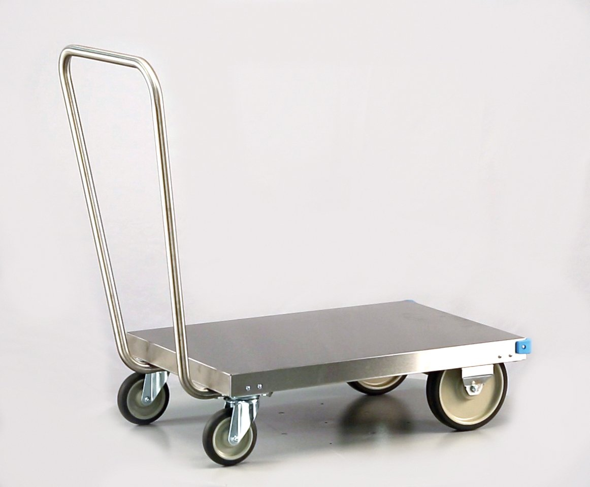 Lakeside 454 Platform Truck, Stainless Steel, 650 lb. Load Capacity, 21'' x 36-1/4'' x 35-1/4''