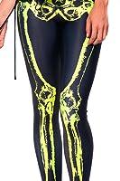 Roseate Women's 3D Digital Print Leggings Gym Workout Running Tights SKELETON
