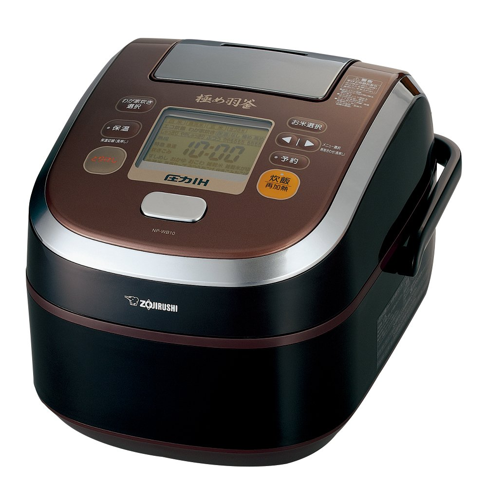 Zojirushi pressure IH rice cooker Iron extremely Hagama 5.5 Go prime Brown NP-WB10-TZ