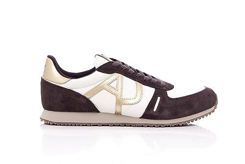 6a91e9cd496ae Armani Jeans Sneakers Uomo Sneaker Low Cut 935027 7A419 41 Marrone   Amazon.it  Scarpe e borse
