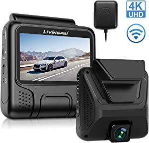 "4K Dash Cam Built-in WiFi GPS Car Dashboard Camera Recorder with UHD 2880x2160P,Night Vision,3.0"" IPS Screen,170° Wide Angle, Parking Mode,WDR,Loop Recording,G-Sensor for Cars,Truck.Support 128GB Max"