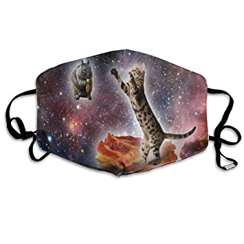 Amazon com : Space Cat Cow Mask for Women and Men Anti